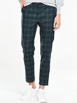 oasis-check-slim-leg-trouser