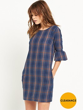 miss-selfridge-check-slouchy-tunic