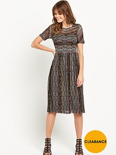 miss-selfridge-short-sleeved-lace-midi-dress