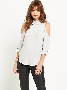 miss-selfridge-cold-shoulder-shirt