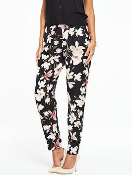 wallis-black-floral-trouser