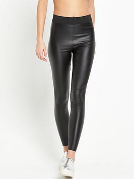 miss-selfridge-pu-coated-legging-black