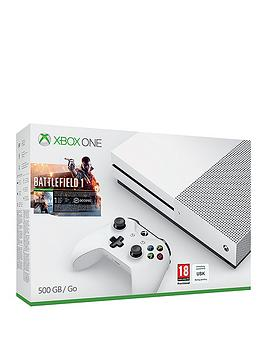 Xbox One S 500Gb Xbox One S Console With Battlefield 1 Additional Controller And 12 Months Xbox Live