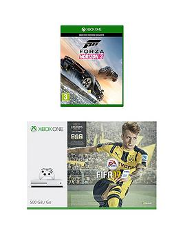 Xbox One S 500Gb Xbox One S Console With Fifa 17 Forza Horizon 3 And 12 Months Live Subscription