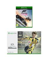 S 500Gb Console with FIFA 17, Forza Horizon 3 plus Optional Extra Controller and/or 12 Months Xbox Live