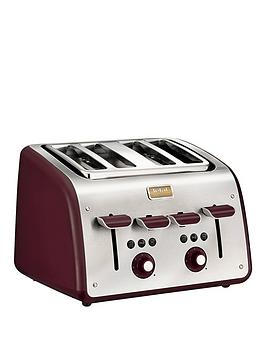 tefal-maison-tt7705uk-4-slice-toaster-in-metal-with-pomegranate-red