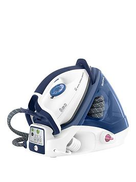 Tefal Tefal Express Compact Generator Iron Gv7340 Blue  5 Bars High Pressure Steam Output Unique AntiSc