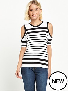 river-island-striped-cold-shoulder-tee