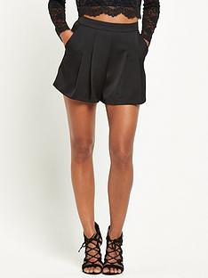 miss-selfridge-satin-short-black