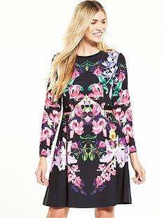 ted-baker-lost-garden-long-sleeve-dress