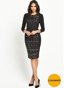 ted-baker-deco-sparkle-jacquard-dress