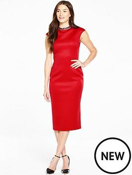 ted-baker-high-neck-embellished-dress