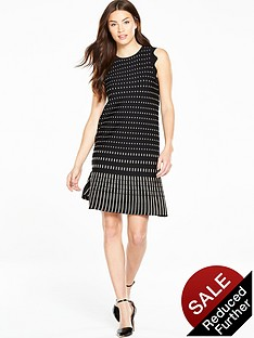 ted-baker-flippy-metallic-jacquard-dress-black