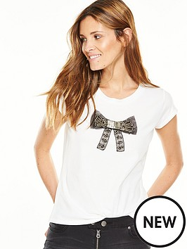 french-connection-sparkle-bow-tee