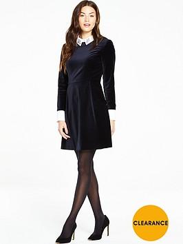 ted-baker-ted-baker-embellished-collar-velvet-dress