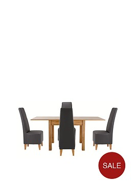 87-174-cm-square-to-rectangle-dining-table-4-manhattan-chairs-buy-and-save