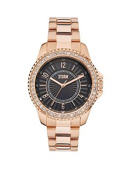 storm-zirona-black-dial-rose-tone-bracelet-ladies-watch