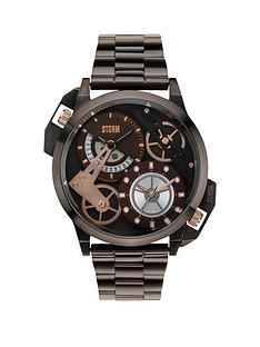 storm-dualon-brown-dial-brown-bracelet-mens-watch