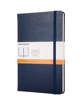 moleskine-moleskine-classic-a5-hard-cover-ruled-notebook-navy