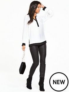 v-by-very-contrast-hem-blouse