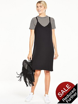 v-by-very-2-in-1-ribbed-t-shirt-dress