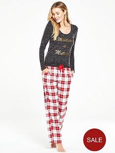 v-by-very-mistletoe-and-mistakes-flannel-pj