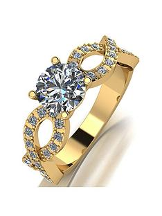 moissanite-moissanite-9ct-gold-140ct-equivalent-solitaire-infinifty-ring-with-set-shoulders