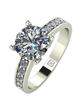 Moissanite Moissanite Lady Lynsey 9Ct Gold 2.25Ct Total Round Brilliant  ... Picture