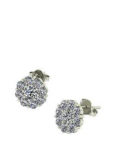 moissanite-moissanite-premier-collection-9ct-gold-175ct-moissanite-daisy-cluster-earrings
