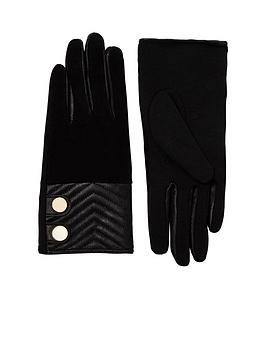 river-island-quilted-suede-amp-leather-glove