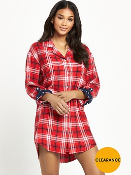 v-by-very-winter-check-nightshirt-red