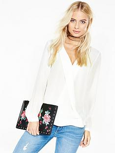 v-by-very-wrap-collar-long-sleeve-blouse