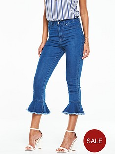 v-by-very-petite-high-rise-frill-hem-jean