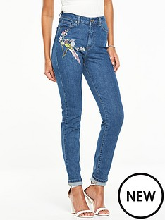 v-by-very-bird-embroidered-slim-leg-jean