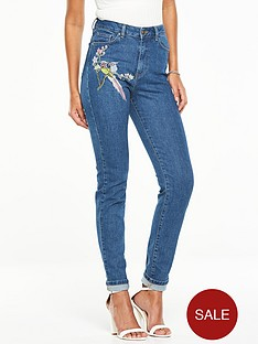 v-by-very-bird-embroidered-slim-leg-jeannbsp