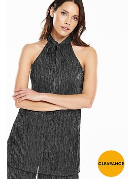 v-by-very-lurex-tie-neck-top