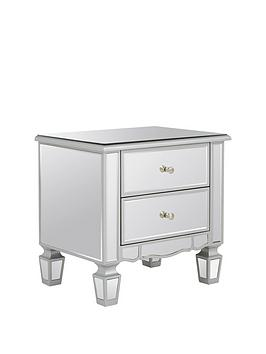 Very Mirage 2 Drawer Mirrored Bedside Chest Picture
