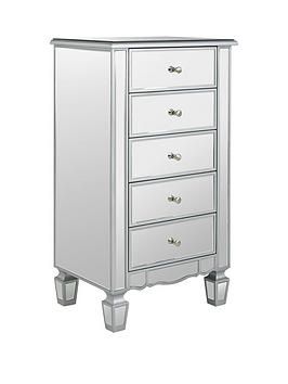 Very Mirage Mirrored 5 Drawer Chest Picture