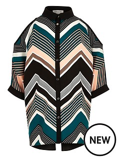 river-island-chevron-cold-shoulder-top