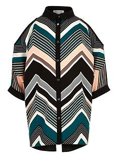 river-island-girls-chevron-cold-shoulder-top