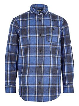 river-island-boys-blue-brushed-check-shirt