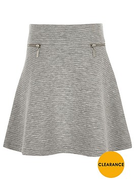 river-island-girls-grey-textured-zip-skater-skirt