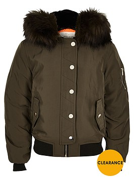 river-island-girls-khaki-hooded-bomber-jacket-with-faux-fur-trim