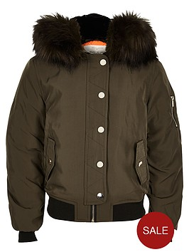 river-island-girls-khaki-hooded-bomber-jacket-with-faux-fur-trim