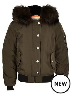 river-island-girls-khaki-hooded-bomber-jacket