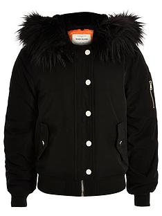 river-island-girls-hooded-bomber-jacketnbspwith-faux-fur-trim