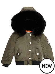 river-island-mini-mini-girls-khaki-hooded-bomber-jacket
