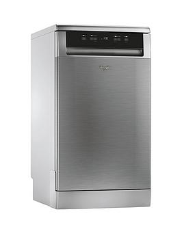 Whirlpool Adp301Ix 10 Place Slimline Dishwasher  Stainless Steel