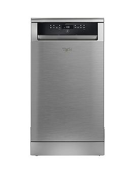Whirlpool Adp502Ix 10 Place Slimline Dishwasher  Stainless Steel