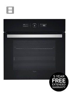 whirlpool-absolute-akz6230nb-built-in-electric-single-oven-black